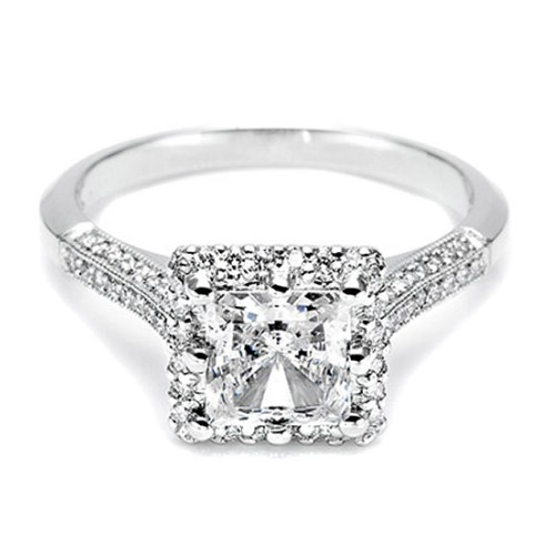 Tacori Platinum Solitaire Engagement Ring 2502PRP7