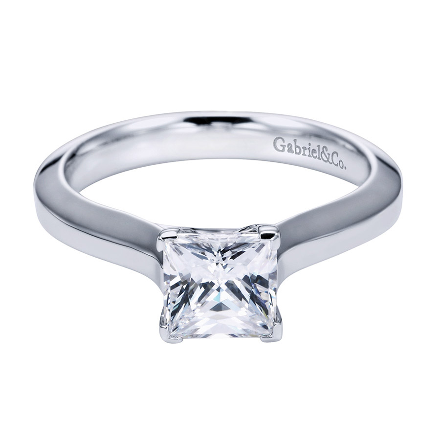 Gabriel Platinum Contemporary Engagement Ring ER6616PTJJJ