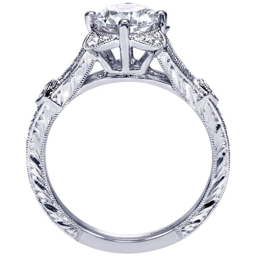Gabriel 14 Karat Victorian Engagement Ring Er8790w44jj Alternative View  1