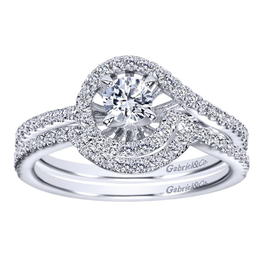 Gabriel 14 Karat Contemporary Engagement Ring ER97718W44JJ Alternative View 3