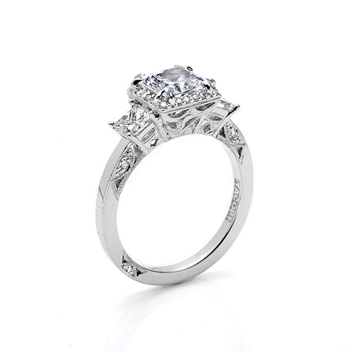 Tacori Platinum Dantela Engagement Ring 2622PRMD Alternative View 1