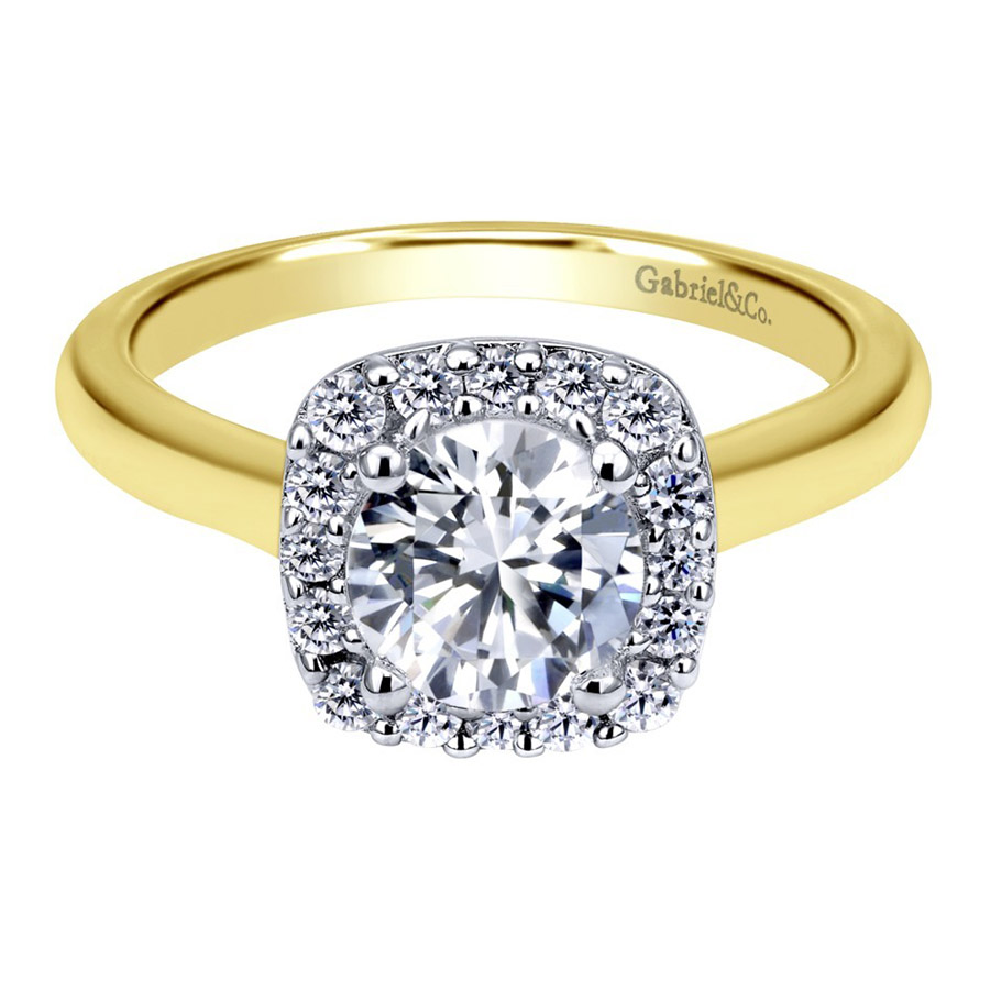 Gabriel 14 Karat Contemporary Engagement Ring ER6873M44JJ
