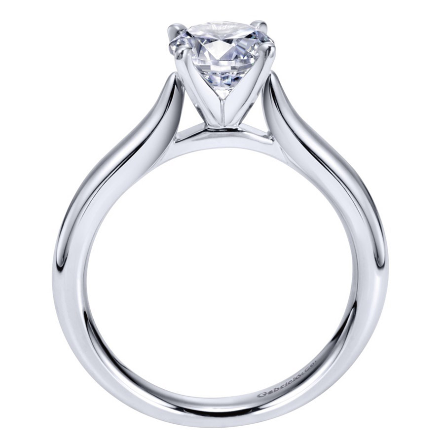 Gabriel Platinum Contemporary Engagement Ring ER6684PTJJJ Alternative View 1