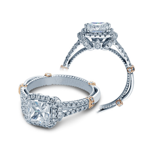 Verragio Parisian-DL117P Platinum Engagement Ring