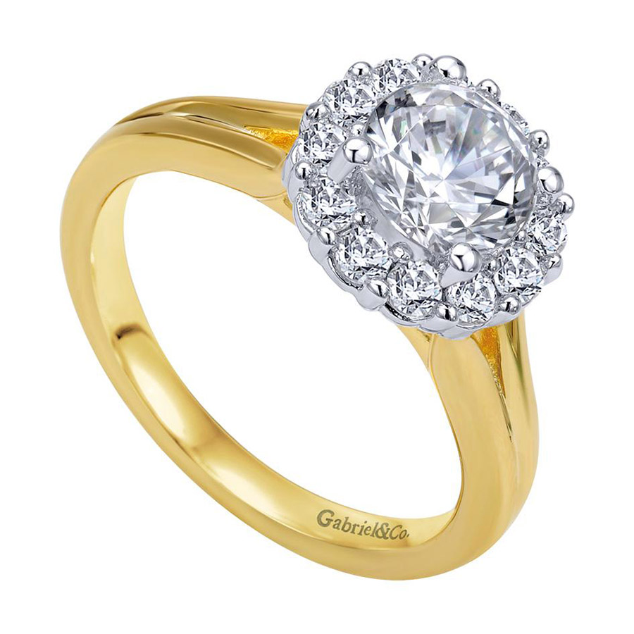 Gabriel 14 Karat Contemporary Engagement Ring ER6941M44JJ Alternative View 2