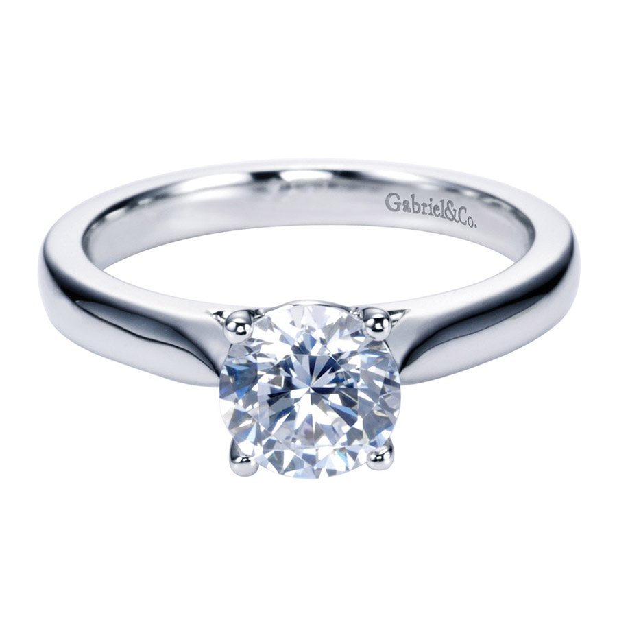Gabriel Platinum Contemporary Engagement Ring ER6645PTJJJ
