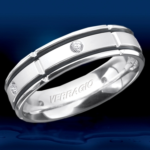 Verragio 18 Karat In-Gauge Diamond Wedding Band RUD-6965 Alternative View 1