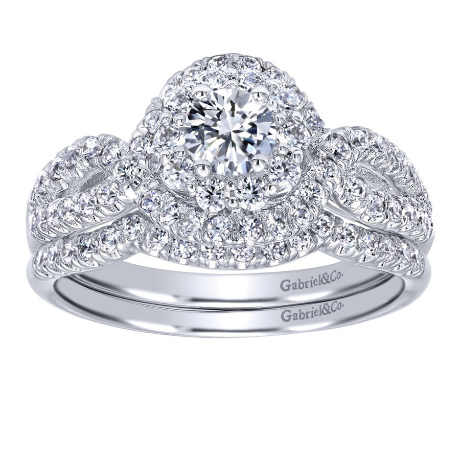 Gabriel 14 Karat Contemporary Engagement Ring ER910158W44JJ Alternative View 3