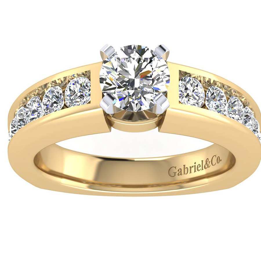 Gabriel 14 Karat Contemporary Engagement Ring ER4184M44JJ Alternative View 4