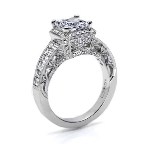 Tacori Crescent 18 Karat Engagement Ring HT2531PR12 Alternative View 1