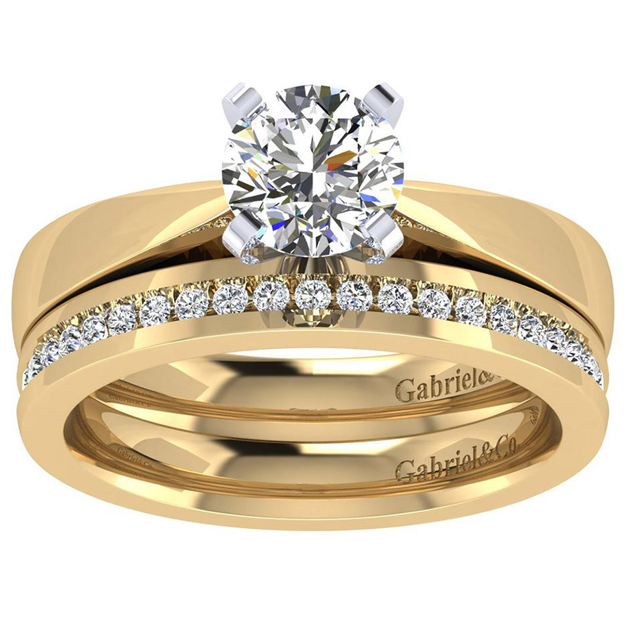 Gabriel 14 Karat Contemporary Engagement Ring ER8132M4JJJ Alternative View 3