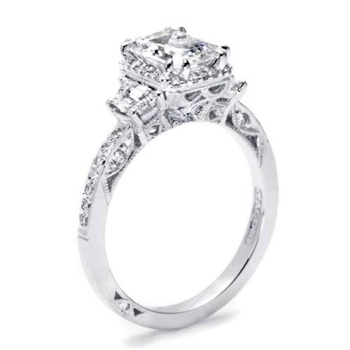 Tacori Dantela Platinum Engagement Ring 2628ECP Alternative View 1