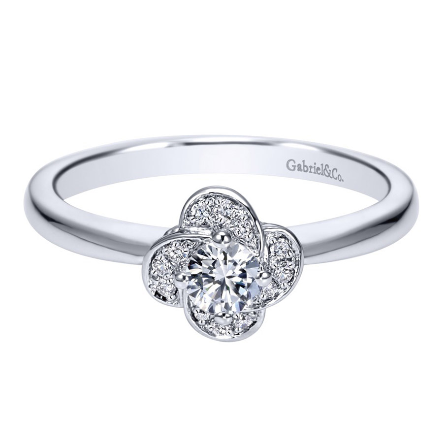 Gabriel 14 Karat Contemporary Engagement Ring ER97764W44JJ