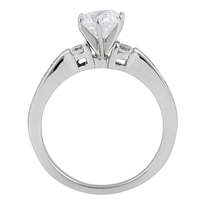 Taryn Collection Platinum Diamond Engagement Ring TQD A-8511 Alternative View 1