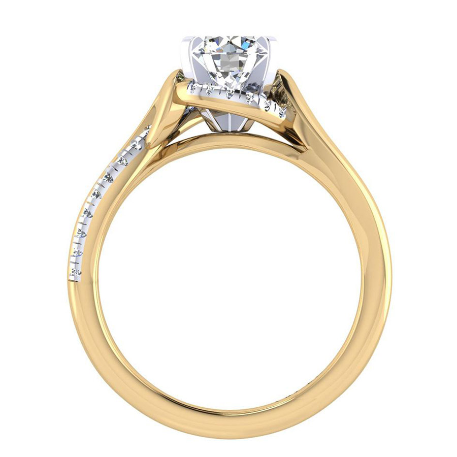Gabriel 14 Karat Contemporary Engagement Ring ER7801M44JJ Alternative View 1
