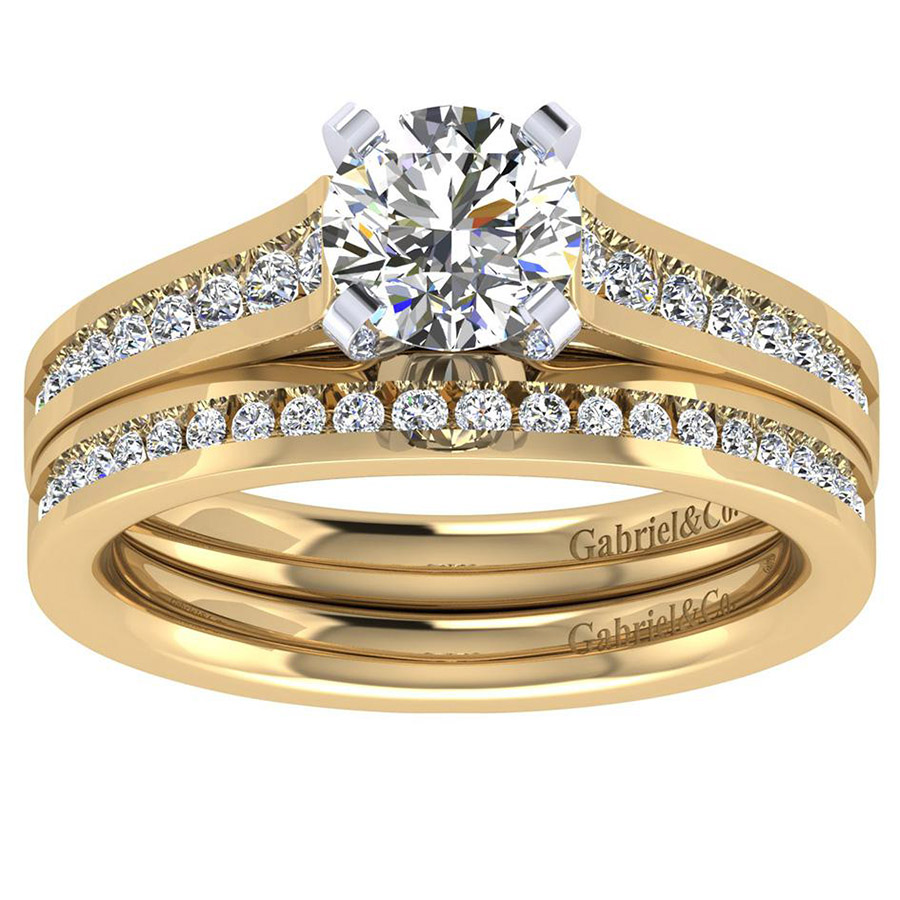 Gabriel 14 Karat Contemporary Engagement Ring ER8223M44JJ Alternative View 3