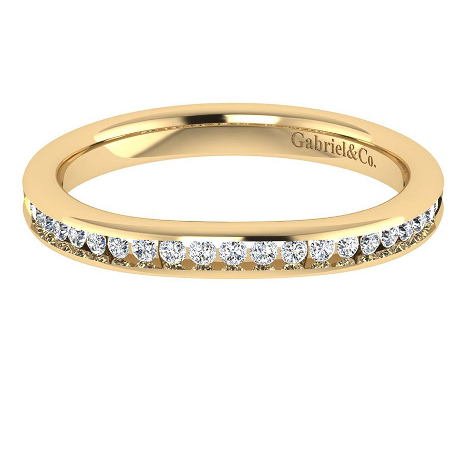 Gabriel 14 Karat Contemporary Wedding Band WB7516Y44JJ