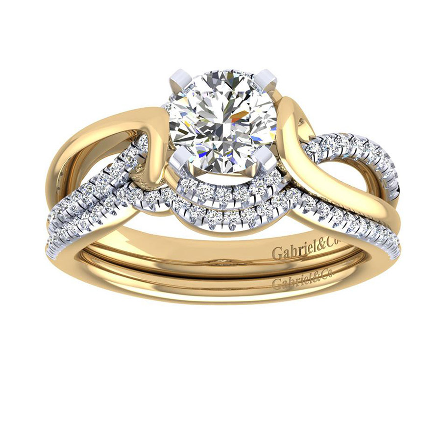 Gabriel 14 Karat Contemporary Engagement Ring ER7801M44JJ Alternative View 3