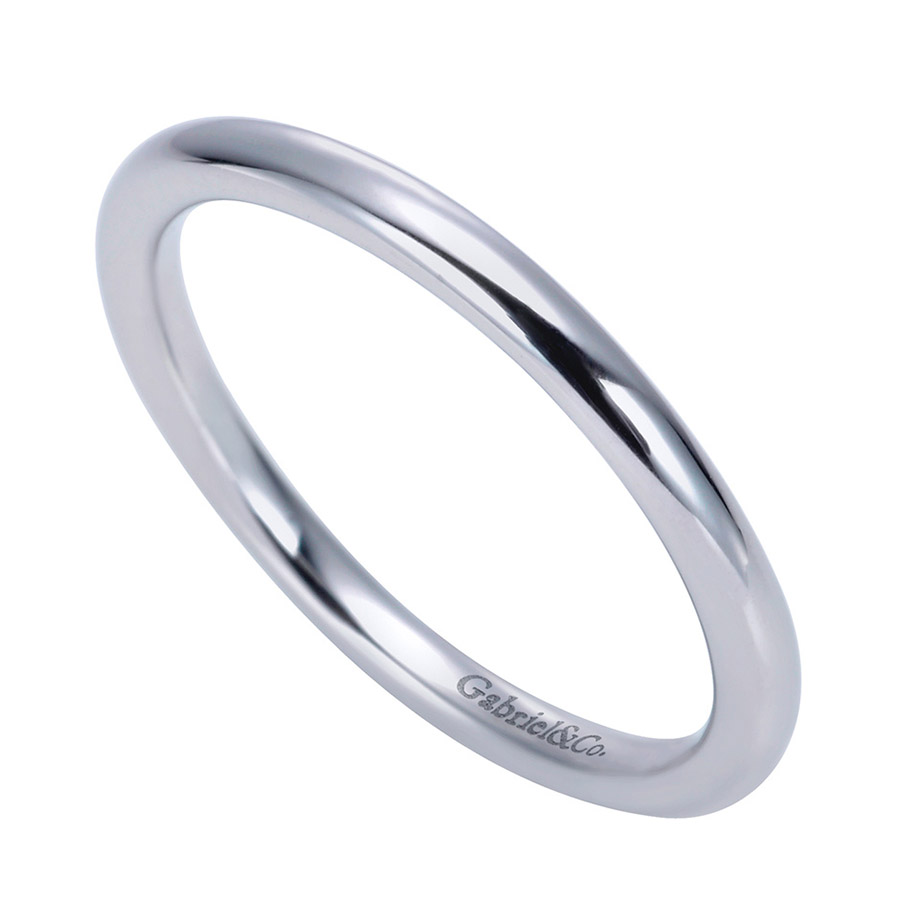Gabriel Platinum Contemporary Wedding Band WB7894PTJJJ Alternative View 2