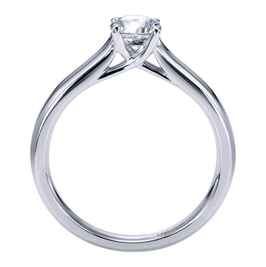 Gabriel Platinum Contemporary Engagement Ring ER6579PTJJJ Alternative View 1