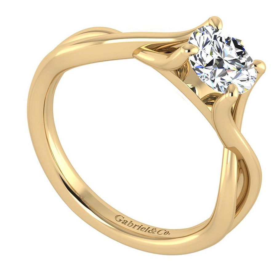 Gabriel 14 Karat Contemporary Engagement Ring ER7517Y4JJJ Alternative View 2