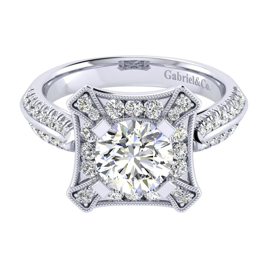 Gabriel 14 Karat Perfect Match Engagement Ring ER002C6AEW44JJ