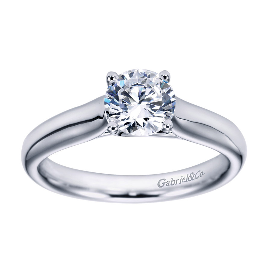 Gabriel Platinum Contemporary Engagement Ring ER6600PTJJJ Alternative View 4