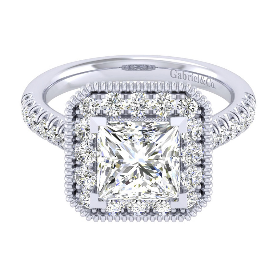 Gabriel 14 Karat Perfect Match Engagement Ring ER039C8ALW44JJ