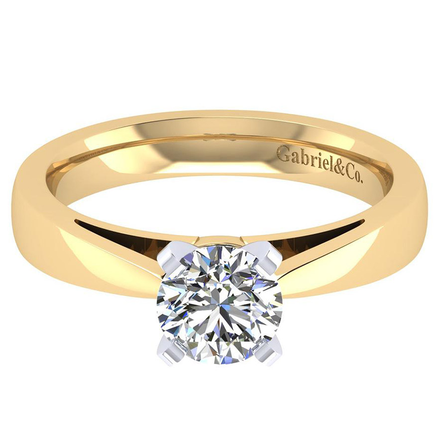 Gabriel 14 Karat Contemporary Engagement Ring ER8132M4JJJ
