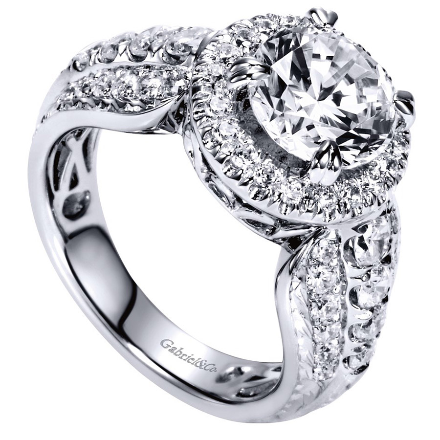 Gabriel 14 Karat Contemporary Engagement Ring ER8473R8W83JJ Alternative View 2