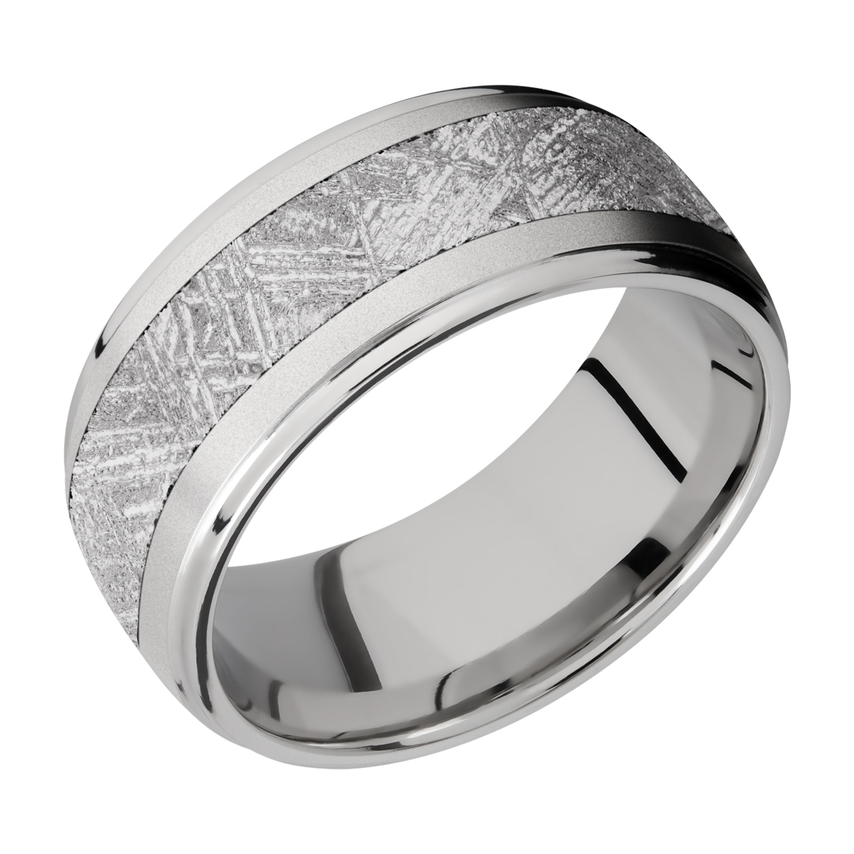 Lashbrook 10DGE15/METEORITE Titanium Wedding Ring or Band