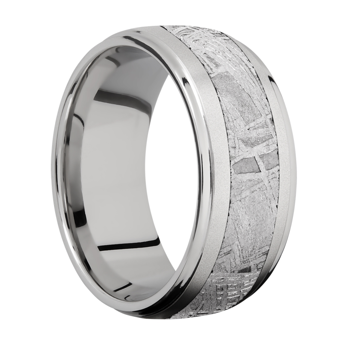 Lashbrook 10DGE15/METEORITE Titanium Wedding Ring or Band Alternative View 1