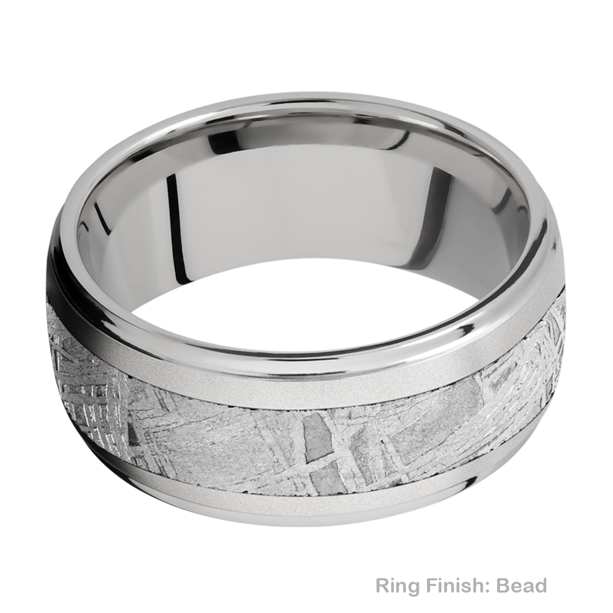 Lashbrook 10DGE15/METEORITE Titanium Wedding Ring or Band Alternative View 2