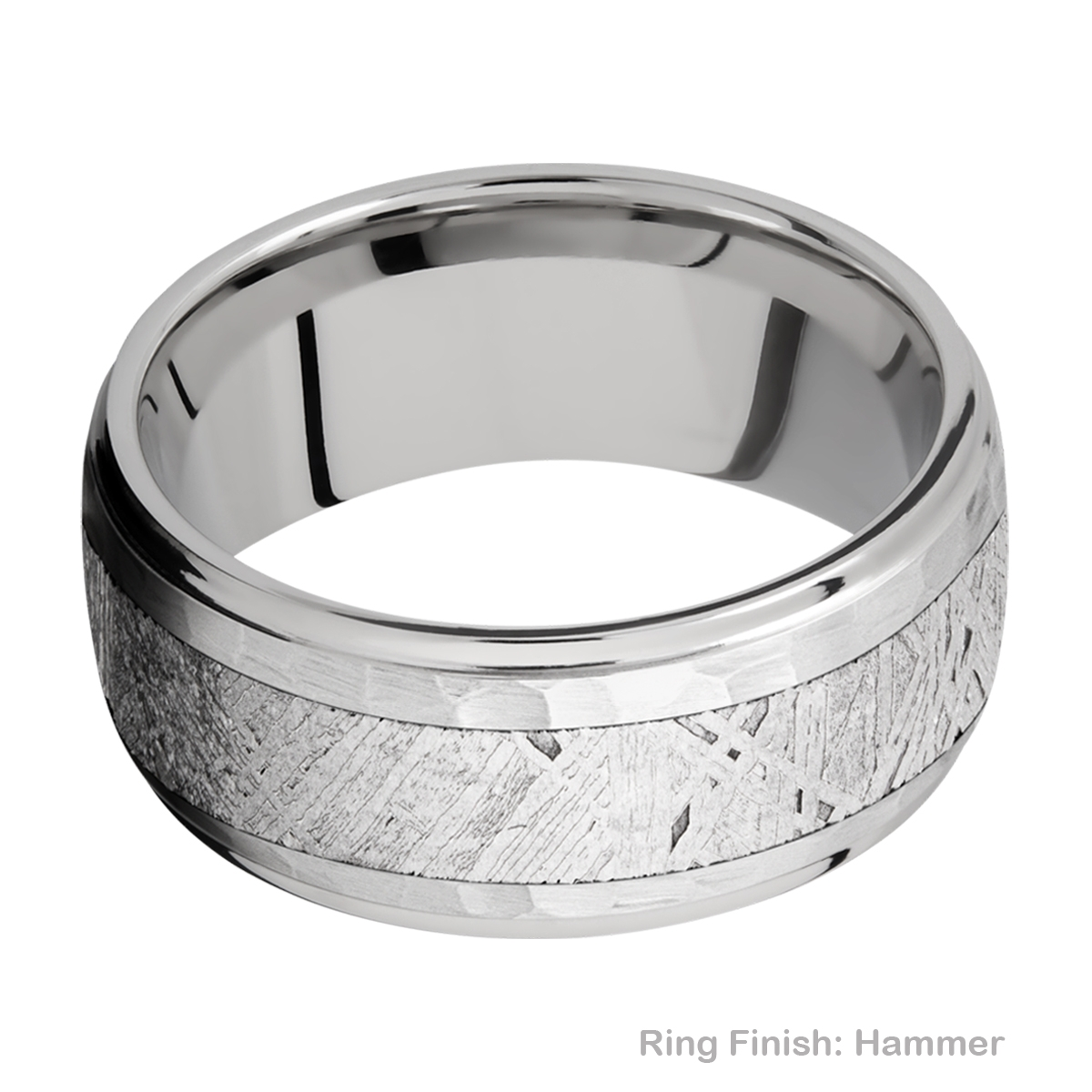 Lashbrook 10DGE15/METEORITE Titanium Wedding Ring or Band Alternative View 8