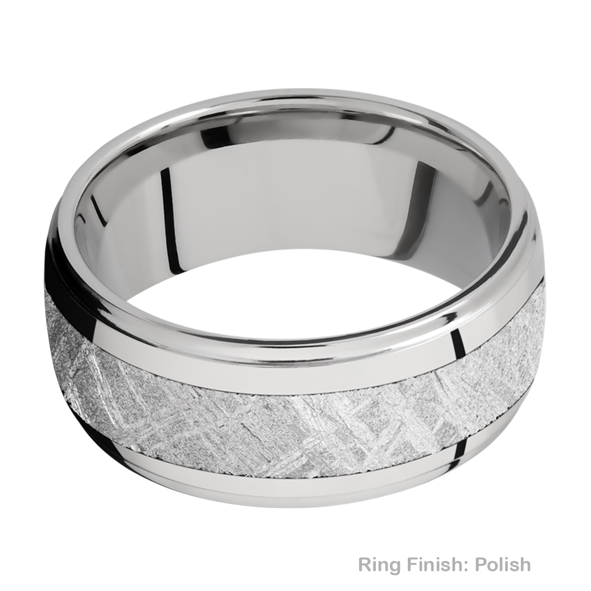 Lashbrook 10DGE15/METEORITE Titanium Wedding Ring or Band Alternative View 3