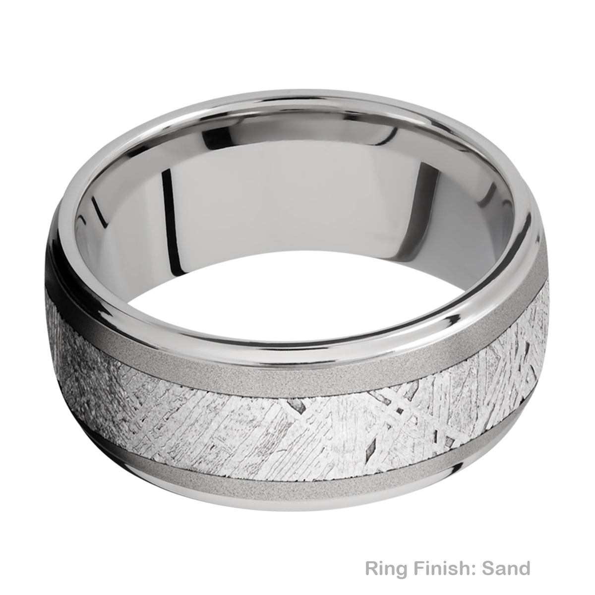Lashbrook 10DGE15/METEORITE Titanium Wedding Ring or Band Alternative View 4