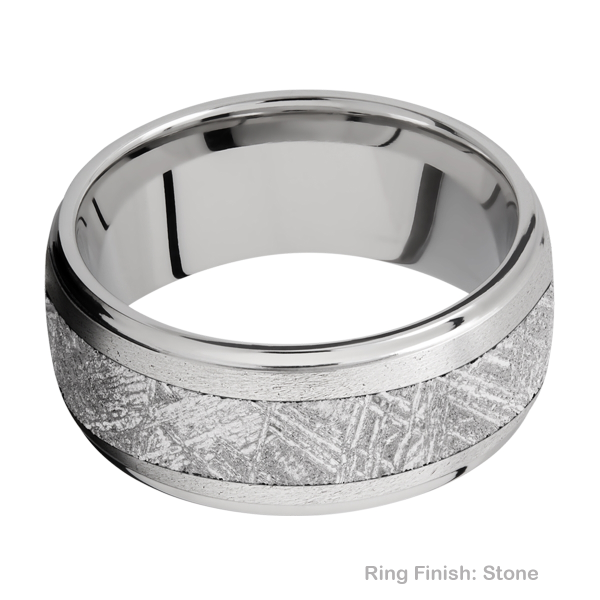 Lashbrook 10DGE15/METEORITE Titanium Wedding Ring or Band Alternative View 6