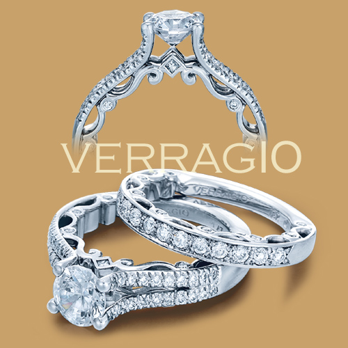 Verragio Platinum Paradiso Engagement Ring Paradiso-3052 R Alternative View 1