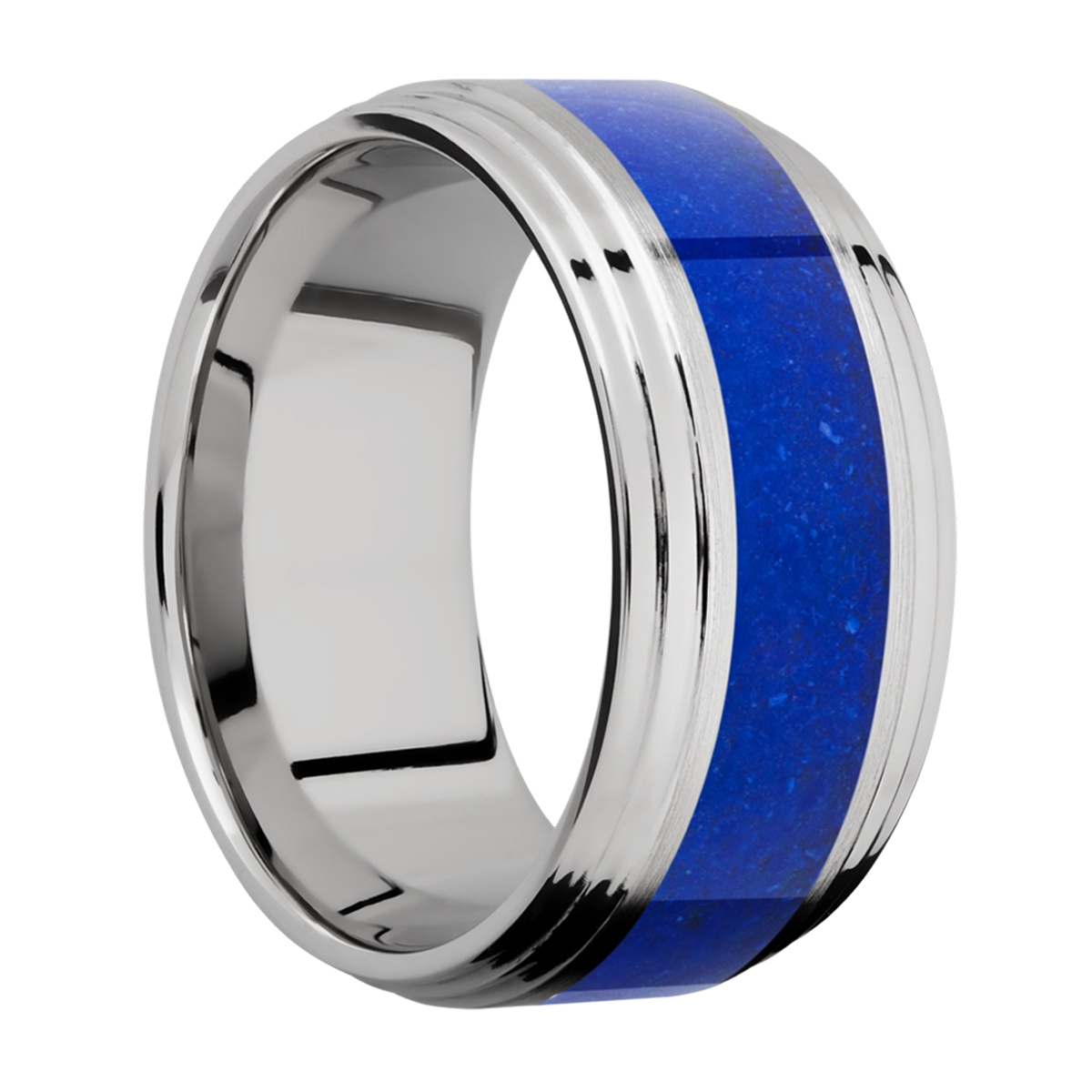 Lashbrook 10F2S15/MOSAIC Titanium Wedding Ring or Band Alternative View 1