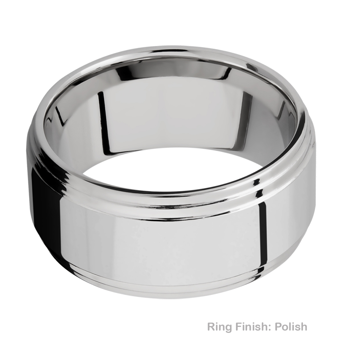 Lashbrook 10F2S Titanium Wedding Ring or Band Alternative View 4