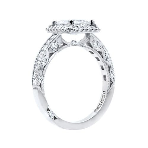 HT2517EC75X55 Tacori Crescent 18 Karat Engagement Ring Alternative View 1
