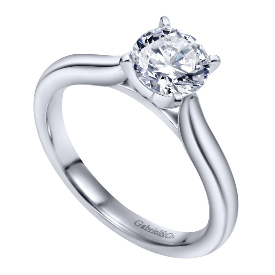 Gabriel Platinum Contemporary Engagement Ring ER6684PTJJJ Alternative View 2