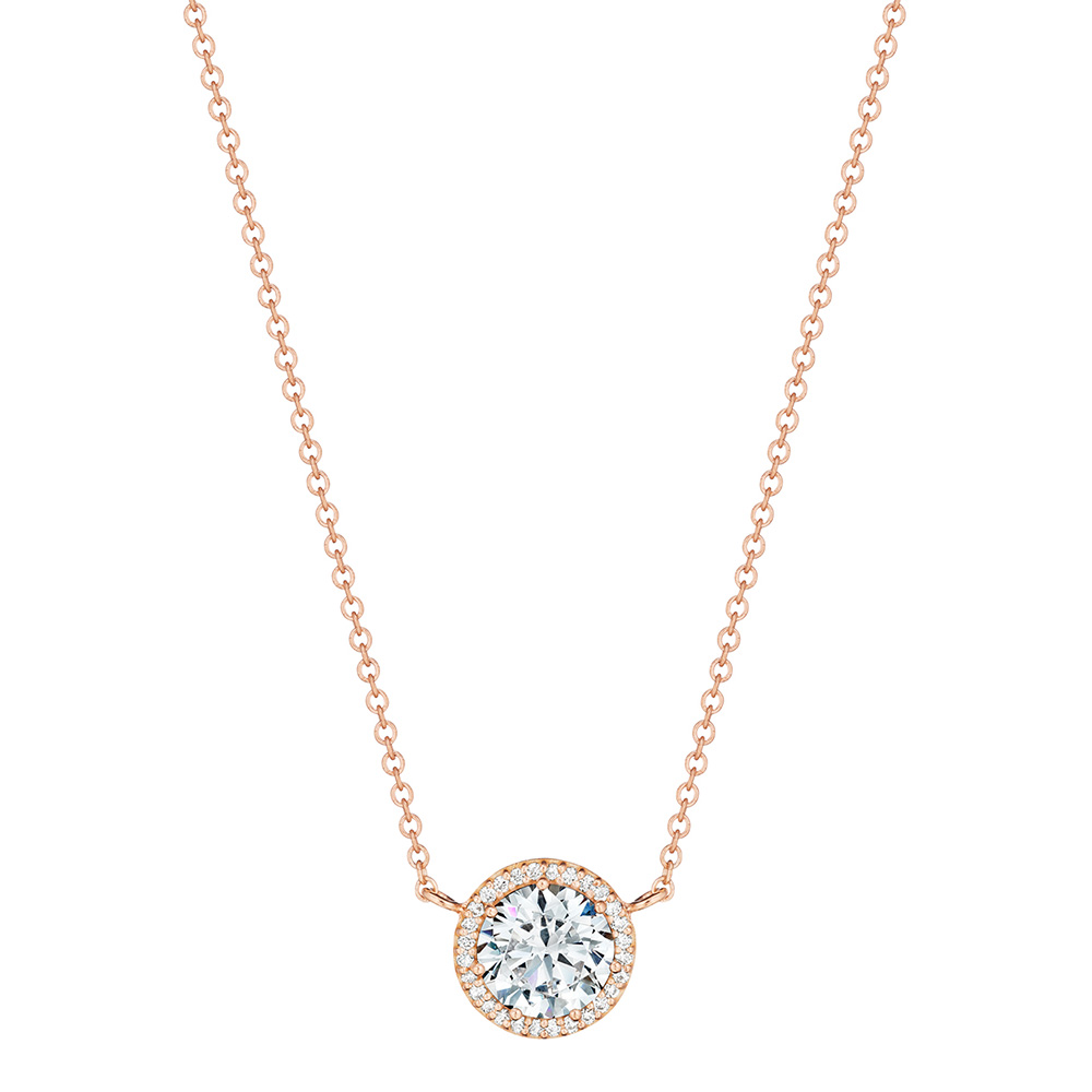 Tacori diamond necklace 18 karat fine jewelry fp6706pk for Fine jewelry diamond pendants