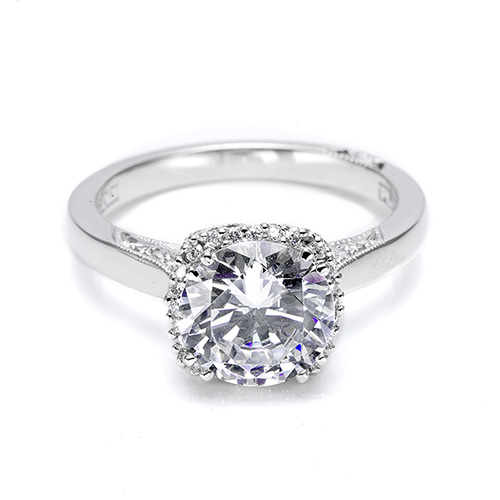 Tacori Platinum Dantela Engagement Ring 2620RDMN
