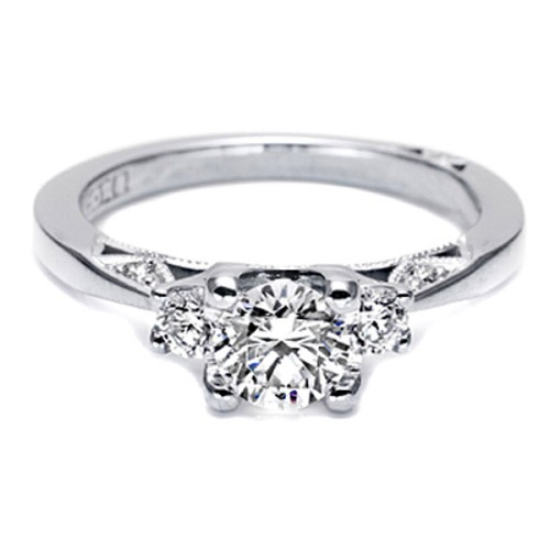 Tacori Platinum Simply Tacori Engagement Ring 2635RD55 Alternative View 2