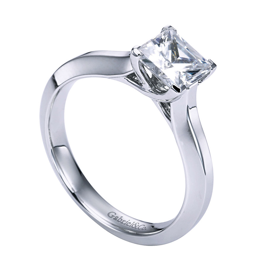 Gabriel Platinum Contemporary Engagement Ring ER6616PTJJJ Alternative View 2
