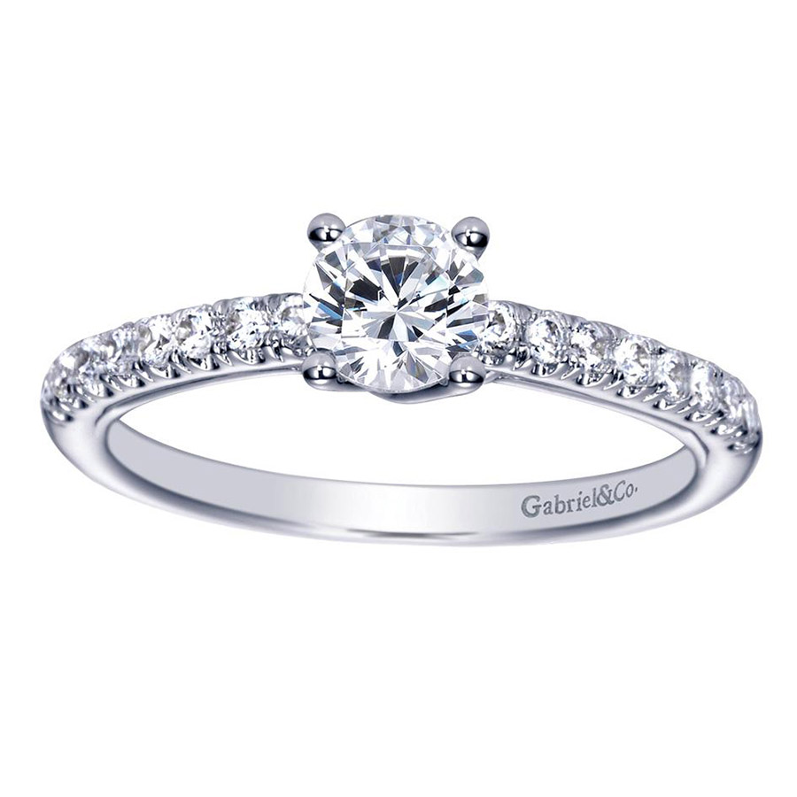 Gabriel 14 Karat Contemporary Engagement Ring ER98565W44JJ Alternative View 4