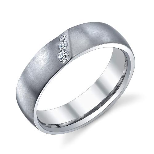 243597 Christian Bauer Platinum Diamond Wedding Ring Band TQ
