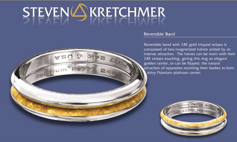 Kretchmer Polarium/24K Gold Reversible Band Alternative View 2