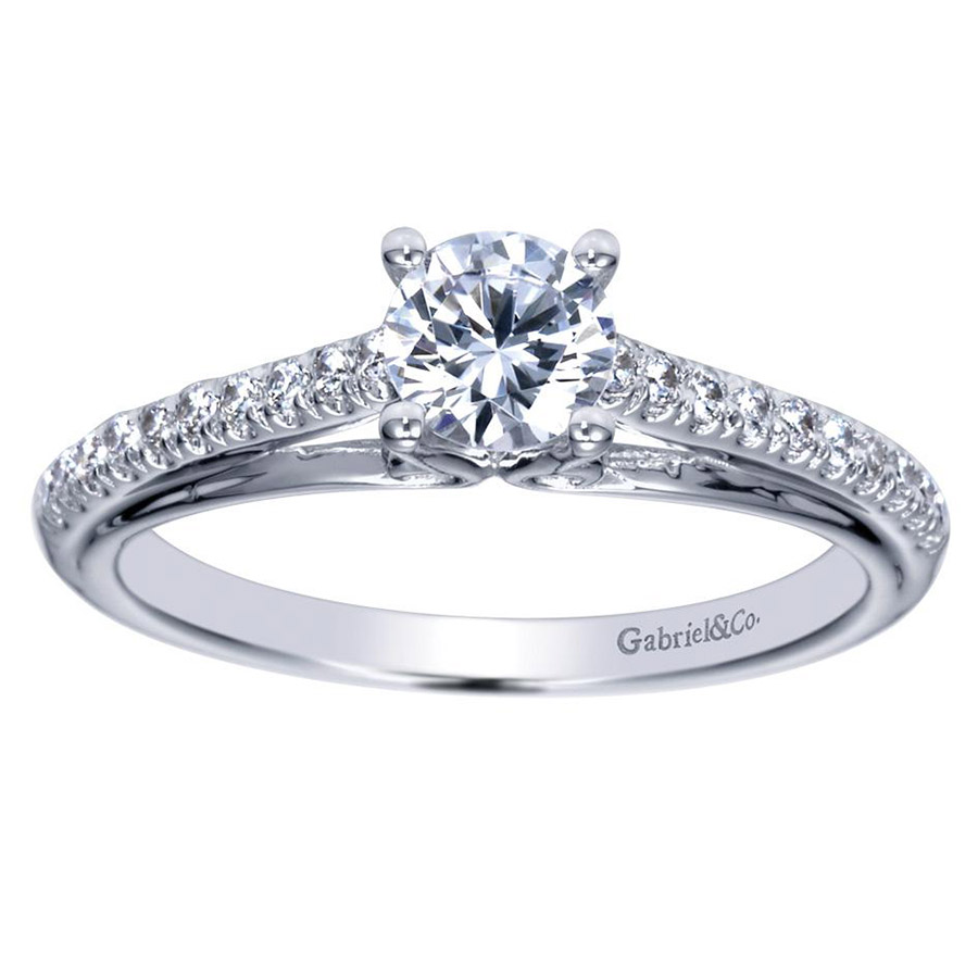 Gabriel 14 Karat Contemporary Engagement Ring ER98556W44JJ Alternative View 4
